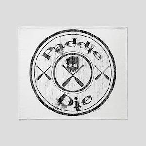 Paddle Oar Die (circle) Throw Blanket