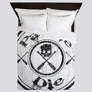 Paddle Oar Die (circle) Queen Duvet