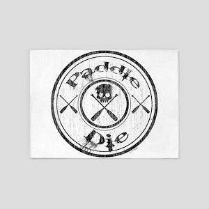 Paddle Oar Die (circle) 5'x7'Area Rug