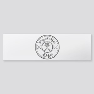 Paddle Oar Die (circle) Sticker (Bumper)