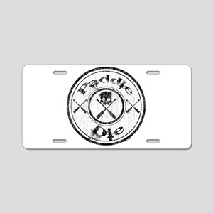 Paddle Oar Die (circle) Aluminum License Plate