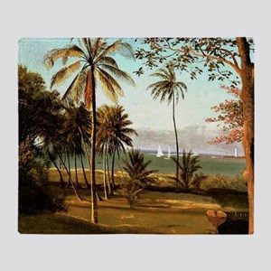 Bierstadt - Florida Scene Throw Blanket