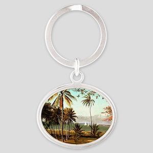 Bierstadt - Florida Scene Oval Keychain