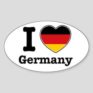 I love Germany Oval Sticker