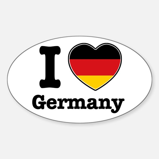 I love Germany Oval Decal