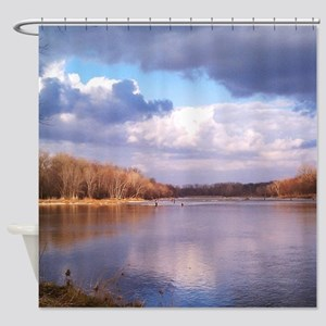 Beautiful Day On The River Shower Curtain
