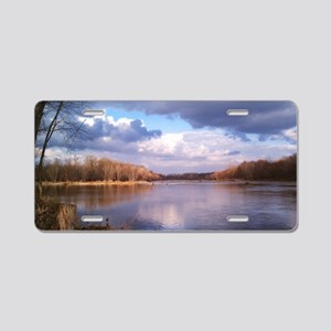 Beautiful Day On The River Aluminum License Plate