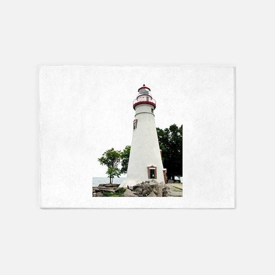 Marblehead Lighthouse 5'x7'Area Rug