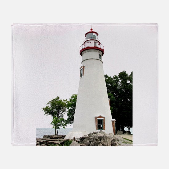 Marblehead Lighthouse Throw Blanket