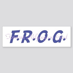 Purple FROG Bumper Sticker