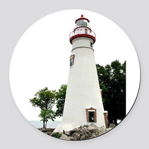 Marblehead Lighthouse Round Car Magnet