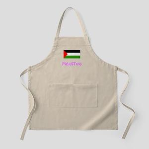 Palestine Flag Pink Flower Design Light Apron