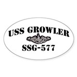 USS GROWLER Sticker (Oval)