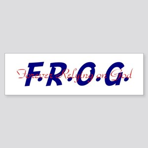 Red and Blue FROG Bumper Sticker