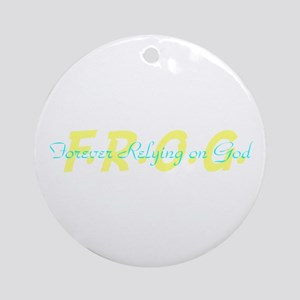 Yellow FROG Ornament (Round)