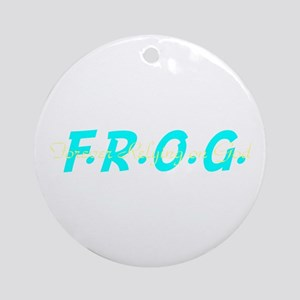Turquoise FROG Ornament (Round)