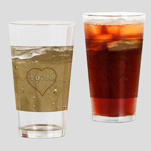 Tyree Beach Love Drinking Glass