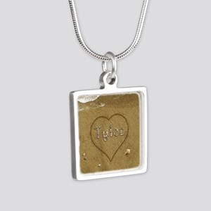 Tyler Beach Love Silver Square Necklace