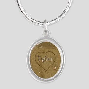Tyler Beach Love Silver Oval Necklace