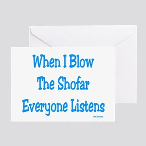 Jewish New Year Blow Shofar Greeting Card