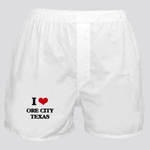 I love Ore City Texas Boxer Shorts