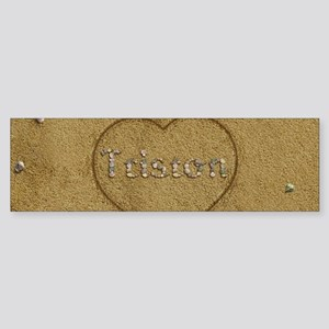 Triston Beach Love Sticker (Bumper)