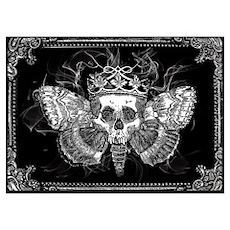 vintage mothman skull Poster