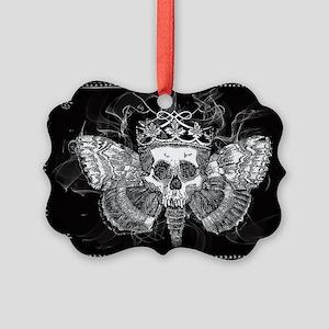 vintage mothman skull Picture Ornament