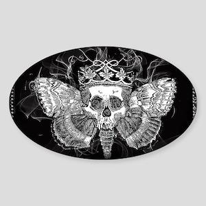 vintage mothman skull Sticker (Oval)