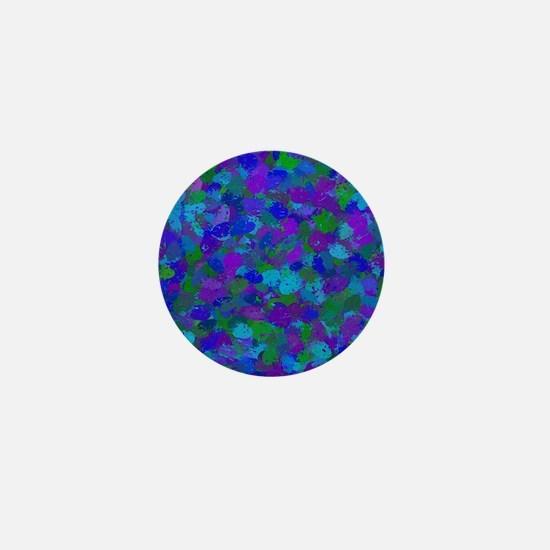 Peacock Color Splatters 4755 Mini Button