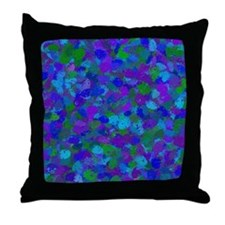 Peacock Color Splatters 4755 Throw Pillow