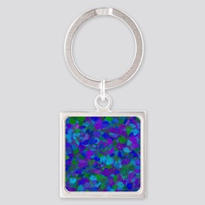 Peacock Color Splatters 4755 Keychains