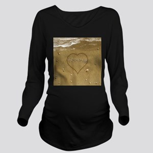 Tommy Beach Love Long Sleeve Maternity T-Shirt