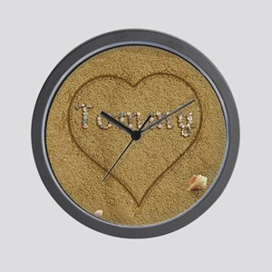 Tommy Beach Love Wall Clock