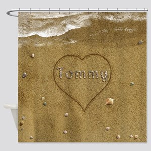Tommy Beach Love Shower Curtain