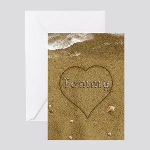 Tommy Beach Love Greeting Card