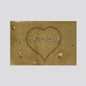 Tommy Beach Love Rectangle Magnet