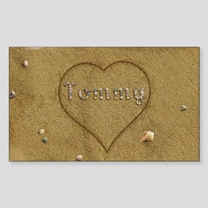 Tommy Beach Love Sticker (Rectangle)