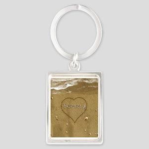 Tommy Beach Love Portrait Keychain