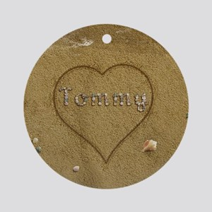 Tommy Beach Love Ornament (Round)