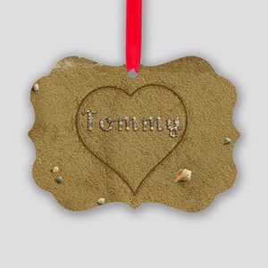 Tommy Beach Love Picture Ornament