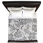 Art Deco Dogwood Mists King Duvet