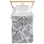 Art Deco Dogwood Mists Twin Duvet