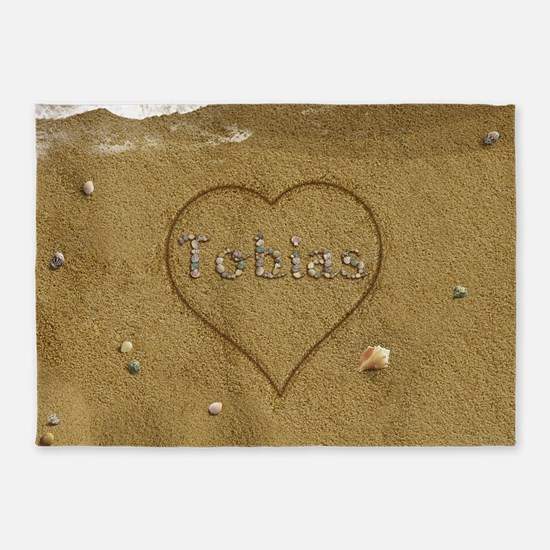 Tobias Beach Love 5'x7'Area Rug