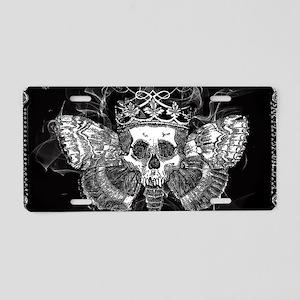 vintage mothman skull Aluminum License Plate