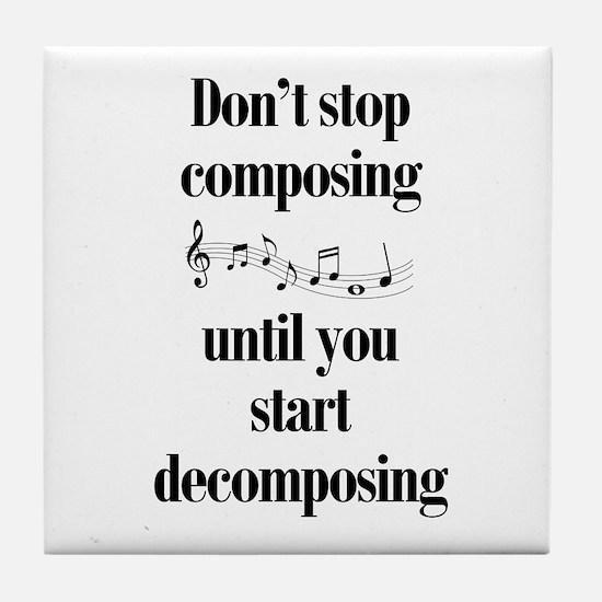 Composing Tile Coaster