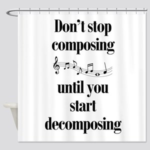 Composing Shower Curtain