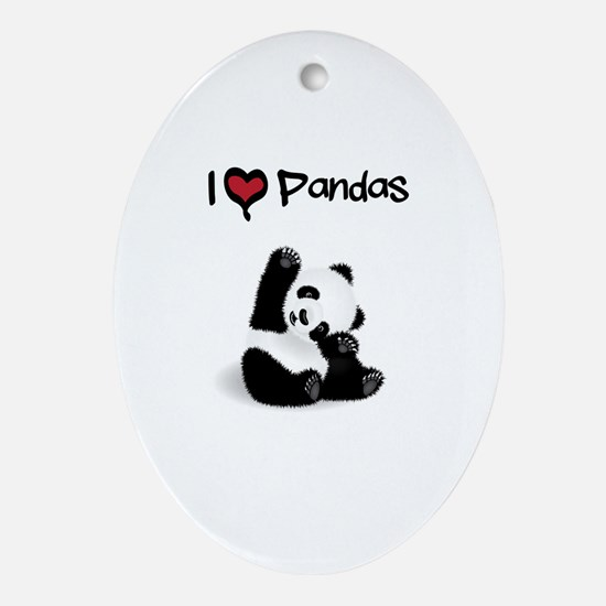 Baby Panda Oval Ornament