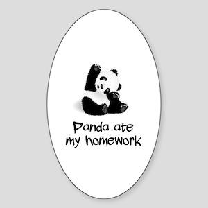 Baby Panda Sticker (Oval)