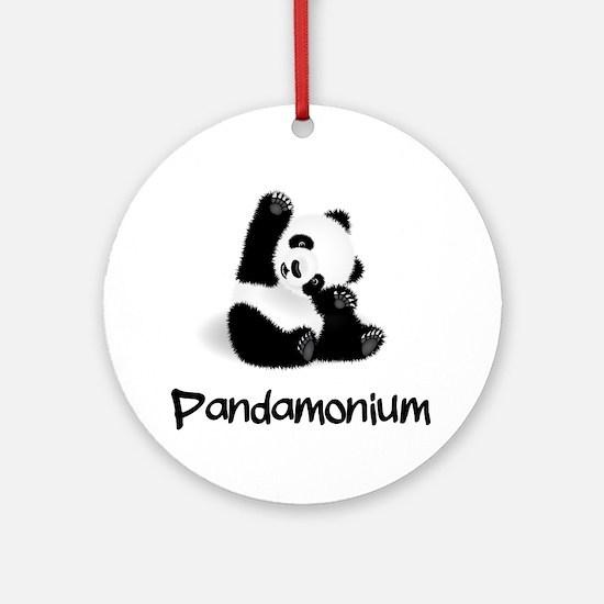 Baby Panda Round Ornament